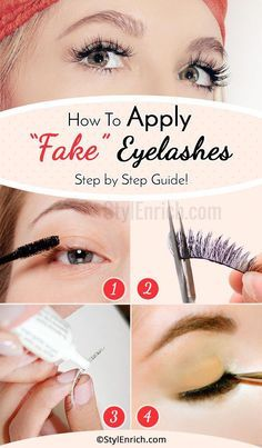Applying fake eyelashes is a very tricky thing. It requires a good amount of precision and concentration. Let's learn here how to apply fake eyelashes! Thick Lashes, Fake Lashes, False Eyelashes, Korean Beauty Tips, Beauty Tips For Skin, Eyelashes How To Apply, Beauty Hacks Eyelashes, Simple Makeup Tips, Eyelash Tinting