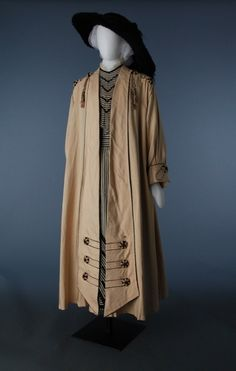 Coat & dress, 67.46.31 and 67.46.40, Circa 1915, USA, Gift of Miss Elizabeth Jane Anderson