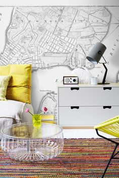 National geographic world map murals pottery barn kids 5899 lower manhattan map wall mural gumiabroncs Gallery