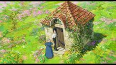 Synopsis - Page 5 // Howl's Moving Castle Pastel Wallpaper, Wallpaper Pc, Computer Wallpaper, Shiro, Howls Moving Castle Wallpaper, Howl And Sophie, Castle Background, Studio Ghibli Movies, Garden Studio