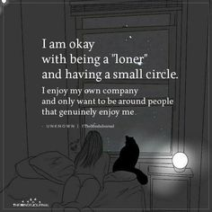 Life Quotes 729231364654465006 - I Am Okay With Being A Loner And Having A Small Circle Source by artijag Loner Quotes, Tired Quotes, Introvert Quotes, Me Quotes, Qoutes, Serious Quotes, Infj, Piper Mclean, Small Circle Quotes