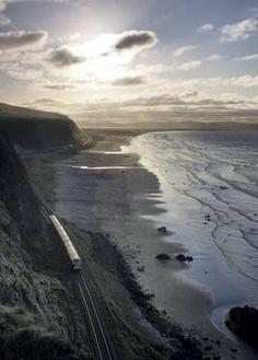 Looking down on Downhill Beach and Benone, from the Mussenden Temple, on a sunny March afternoon. Ireland. Submitted by Rory Dunne