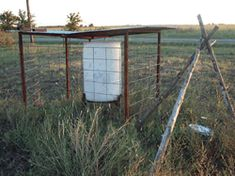 installation of watering devices to provide a supplemental source of water for animals. - Texas AgriLife Extension