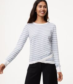 $49.50 This crossover striped sweater is modern cool