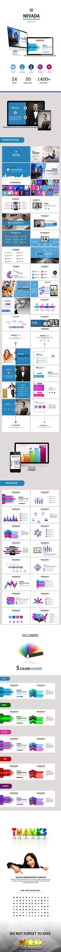 NEVADA - Powerpoint Business Presentation Template #design #slides Download: http://graphicriver.net/item/nevada-powerpoint-business-presentation/12503509?ref=ksioks