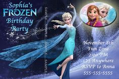 Disney Frozen Invitation--Disney--Birthday Party--Customize