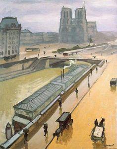 Rainy Day, Notre Dame de Paris by Albert Marquet. Watercolor Landscape, Landscape Art, Landscape Paintings, Landscapes, Paris Kunst, Paris Art, Henri Matisse, Art Parisien, Pont Paris