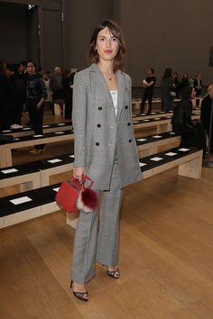 Jeanne Damas au défilé Nina Ricci automne-hiver 2017-2018 à Paris