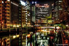 大阪 土佐堀川 光 #Osaka #Japan #light osaka Japan light
