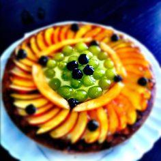 Torta alla frutta appena colta