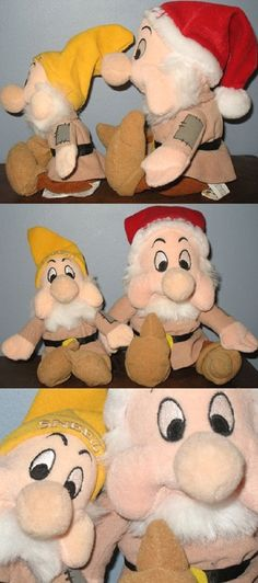 Snow White and the Seven Dwarfs Sneezy plush toys from Walt Disney World and the Walt Disney Company. Love them! They're sold but be sure to visit my store to find more great Snow White items! #snowwhite #Disney #sneezy
