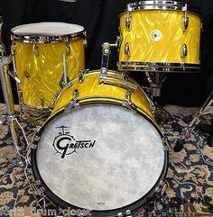 Gretsch USA custom 4pc drum set / Gold Satin Flame / 130th Anniversary kit