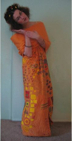 Klimt painting Halloween costume by Claire Mojher, via Flickr