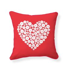 Love Button Pillow