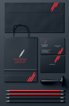 PHOENIX GROUP on Behance Corporate Identity Design, Brand Identity Design, Graphic Design Branding, Business Branding, Brochure Design, Business Card Design, Stationary Branding, Stationery Design, Corel Draw Design