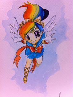 Sailor Rainbow Dash fanart