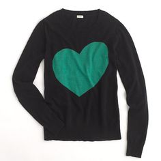 heart crewneck sweater / j.crew... adore this!