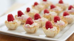 These festive one-bite desserts are quick and easy to throw together. Perfect to serve at your next holiday get-together.