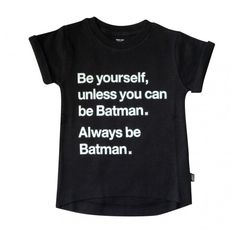 Always be Batman tee (€25) ❤ liked on Polyvore featuring tops, t-shirts, shirts, roll top, scoop back top and snap tee