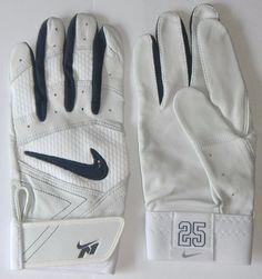Mark Teixeira New York Yankees Game Issued Nike N1 Fuse Batting Gloves  Large MLB