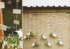 hanging flowers wedding seating plan