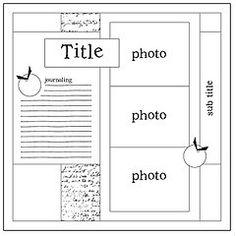 scrapbook sketches - Google | http://scrapbookphotoshenderson.blogspot.com