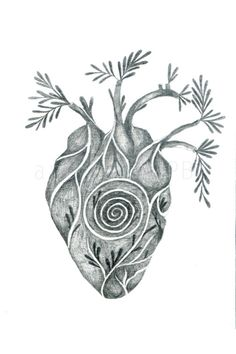 Sacred heart of the spiral. Art print. Art by Toshisworld on Etsy