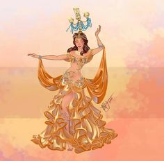 Belle Belly Dancers Art by Sara Manca