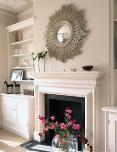Fireplace with built ins. I swear, I would put built ins everywhere in my house, if I could. :)