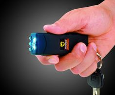 This is the World's smallest Guard Stun Gun and multiple features. The main feature is Stun Gun for security, you could use it as a key hanger or a flashlight. Pick one for your own now.