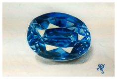 Sapphire gemstone drawn with colored pencils and sketchpen. Gem Drawing, Sapphire Gemstone, Colored Pencils, Paintings, Gemstones, Diamond, Drawings, Art, Draw
