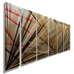 Meteor Eclipse - Unique Red, Black and Tan Contemporary Metal Painting - 68 Metal Wall Sculpture, Wall Sculptures, Mother's Day Deals, Abstract Metal Wall Art, Nails And Screws, Commercial Interior Design, Holiday Sales, Wall Spaces, The Ordinary