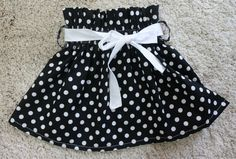 Sew Love It: Paper bag skirt tutorial could be adapted for AG.