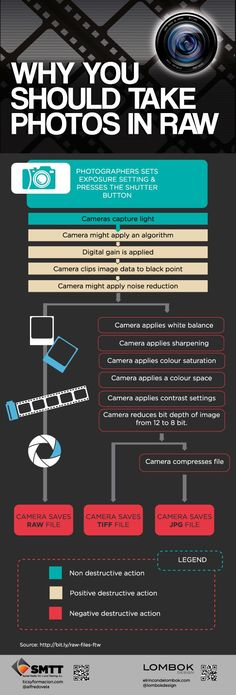 Raw vs JPEG.  The advantages. #infographic #photography tips #cameras
