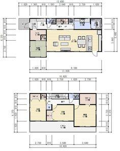 間取り 36坪 4LDK 西玄関 Floor Plants, Architect Design, My House, Layout, House Design, Flooring, How To Plan, Architecture, Interior