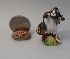 OOAK sheep with lantern miniature Cottage Kitty