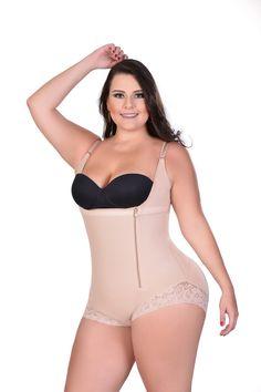 Colombian Body Shaper Side Zipper Tummy Control compression garment - Fajas Colombianas Ref-013