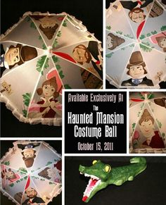 "Hand Paint Haunted Mansion Parasol Part of Raffle for Thank You Walt Disney's ""The Haunted Mansion Costume Ball"""