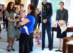 El príncipe George juega con otros bebés en su primer compromiso oficial