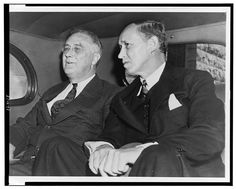 President Franklin D. Roosevelt with Harry Hopkins, 1938.