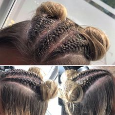 SPICE GIRLS concert ready for these two hairstyles 💜 #glitterhair #plaitsfordays #syntheticbraidinghair #spiceupyourlife Spice Girls Concert, Glitter Hair, Spice Things Up, Braided Hairstyles, Braids, Hair Styles, Bang Braids, Hair Plait Styles, Cornrows