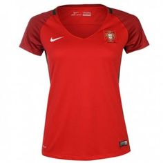 2016 Portugal Home Red Women's Thailand Soccer Jersey