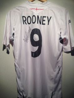 England signed football shirt by a superstar inc COA