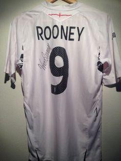 England signed football shirt by a superstar inc COA