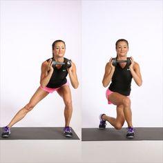 Slikovni rezultat za POPSUGAR butt and legs home workout Side Lunges, Leg Workout At Home, At Home Workouts, Workout Board, Morning Workouts, Workout Ideas, Curtsy Lunge, Dumbbell Workout, Training
