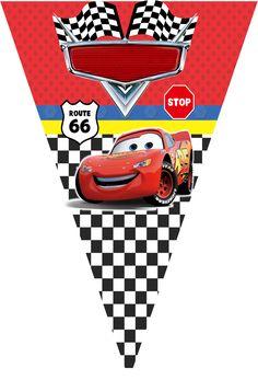 Disney Cars Party, Disney Cars Birthday, Cars Birthday Parties, Birthday Bunting, Baby Birthday, Auto Party, Car Party, Car Banner, Car Themes
