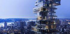 56 Leonard Street, New York / Herzog & de Meuron, #Hochhaus #Rendering #Wohnhaus #2008 #USA