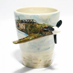 Airplane Spitfire Mug Ceramic Stoneware Home Decorative Crafts 0004