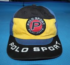 0914c1b4add Vintage Polo sport Ralph Lauren Cap Hat Spell Out P-Wing Golf Ski Stadium