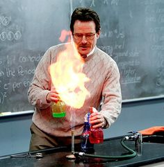Learn How to Spray Colored Fire with This Fun Chemistry Demonstration -- It's kinda sad that it took a show about drugs to make people interested in chemistry, but this may still be worth trying.